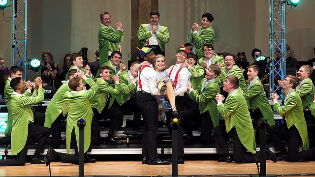 ''Infinity'' from Millard North are awarded 1st Runner up and best vocals at Sioux City East's Sing All About It