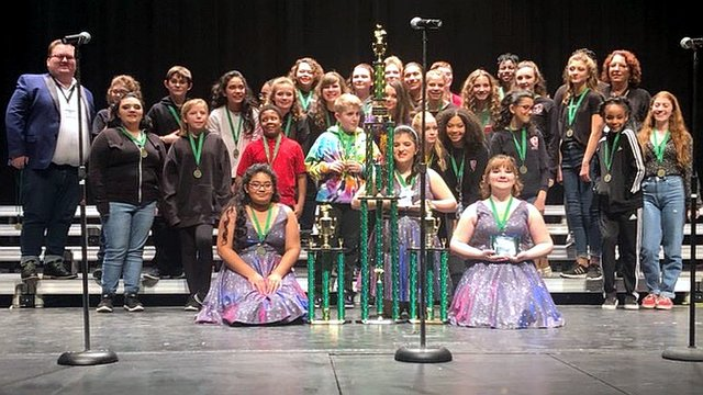 Memorial Park Middle's ''78 Edition'' claim victory in their division at Pendleton Heights in Indiana