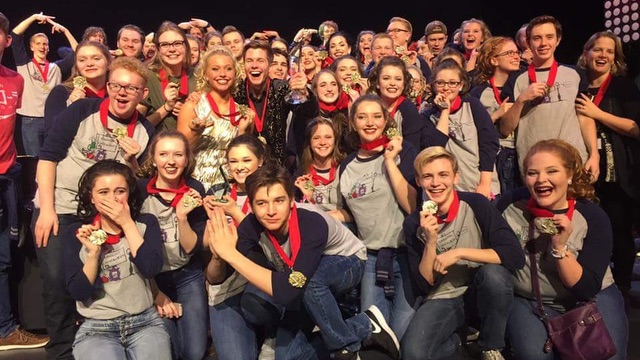 ''Choraliers'' from Edgewood High School take home first in the Small Mixed Finals at Fairfield